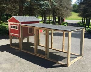 Insulated And Wired Chicken Coop With Run A frame Style