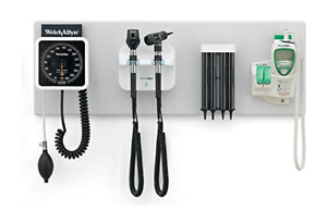 New Welch Allyn Integrated Wall System Complete 2 Heads Bp Suretemp Specula