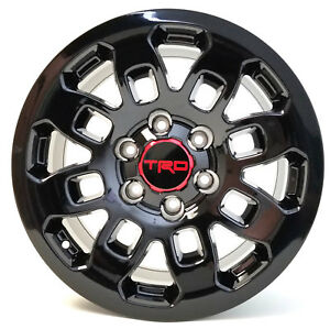 Set Wheels 17 X 8 6x139 Trd Pro Style Gloss Black For Toyota 4runner Tacoma