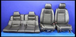 2011 2014 Ford Mustang Gt Premium Oem Leather Coupe Seats Front Rear Hot Rod