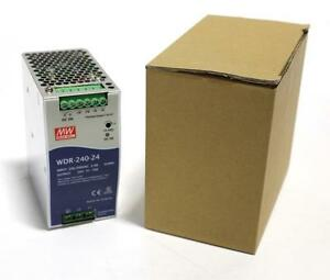 Mean Well Wdr 240 24 Ac dc Industrial Din Rail Power Supply New