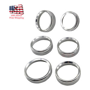 Silver Decor Ring Trim Covers For 16 18 Ford F150 Air Conditioner