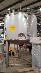 Feldmeier 1000 Gallon T316l Stainless Steel Jacketed Insulated Mix Tank 2009