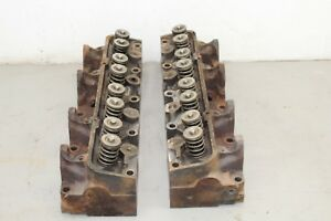 Ford Fe 332 352 360 390 427 428 Cylinder Heads Pair C7ae A