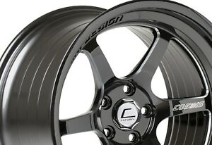 Cosmis Racing Xt006r 18x11 8 5x114 3 Black W Milled Spokes set Of 4