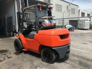 Used 2010 Toyota 7fgu45 10000lb Forklift Propane Lift Truck With Side Shift