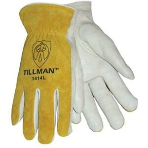 Lab Safety Work Gloves Tillman 1414m Unlined Cowhide Leather Drivers Glove Of