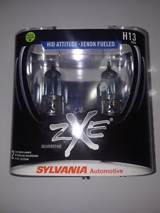 Sylvania Silverstar Zxe H13 9008 Pair Set Headlight Bulbs Xenon Fueled New