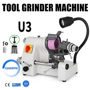 U3 Universal Tool Cutter Grinder Machine 5 Collets Tool Grinding 5200rpm Updated