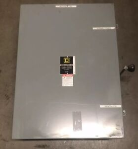 Square D Heavy Duty Disconnect Switch 3 Pole 200 Amp 240v Double Throw Dtu324n