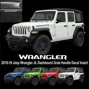 Fits Jeep Wrangler Jl Dashboard Grab Handle Decal Insert 2018 2019