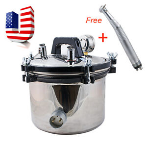 8l Autoclave Dental Stainless Steel Pressure Steam Sterilizer free Gift