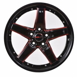 4 Drift 17 Inch Black Red Mill Rims Fits Toyota Camry 4 Cyl 2012 2018
