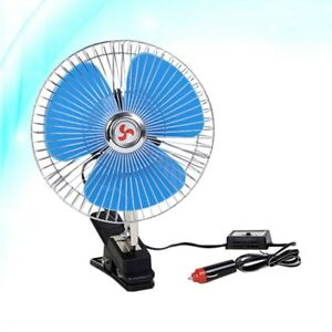 12v Vehicle Car Oscillating Fan Portable Cooling Fan For Cars Boats Buses Trucks