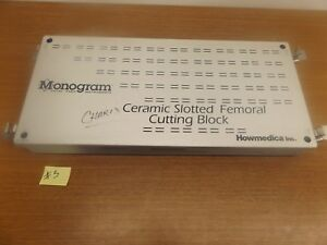 Howmedica Duracon Ceramic Slotted Femoral Cutting Block Lot 5