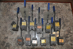 Lot Of 12 Erico Cadweld Molds With Handles Used