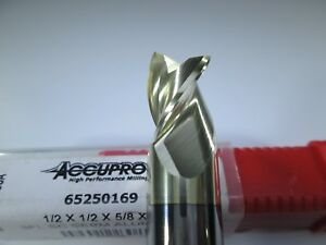 Accupro Carbide 1 2 End Mill 3 Flute 65250169 Milling Aluminum Copper Tool Bit
