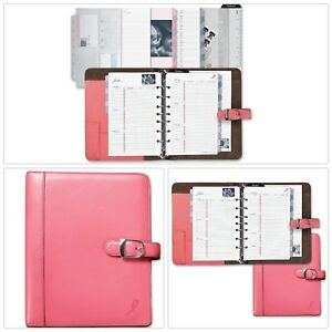Day Timer Pink Leather Planner Starter Support Breast Cancer Research Dtm4843