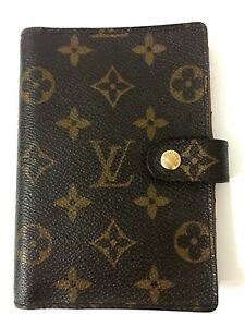 Auth Louis Vuitton Pm Agenda Day Planner Cover Brown Monogram Canvas Us Seller