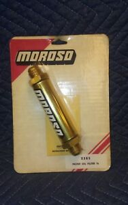 Moroso 23850 Oil Filter Inline Screened 10 An Thread old School Gold Finish