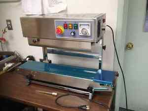 Stainles Steel Fr 900v Vertical Automatic Continuous Band Sealer usa Stocked