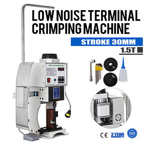 110v Automatic Wire Crimping Machine 1 5t Low Noise Terminal Crimping Machine