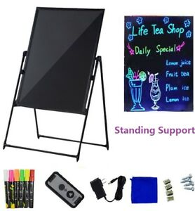 Standing Illuminated Erasable Neon Led Message Menu Sign Writing Board 32 X 24