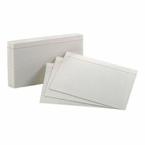 Esselte Corporation Oxford Index Cards 5x8 Ruled White set Of 24
