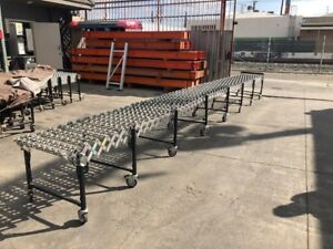 Conveyor Skatewheel Flexible 24 Feet Long Orange County
