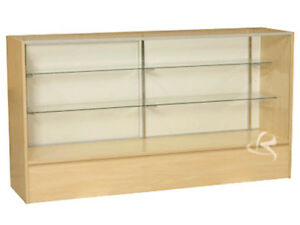 Glass Wood Maple Showcase Display Case Store Fixture Knocked Down sc sc6m