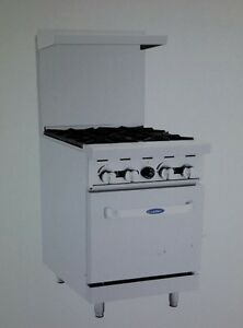 Atosa 24 Gas Range With 4 burners And Standard Oven