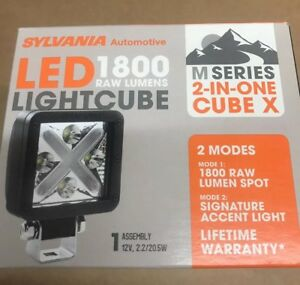 Sylvania Lightcube x Led 1800 Lumens Spot Automotive 2 Modes Lamp new