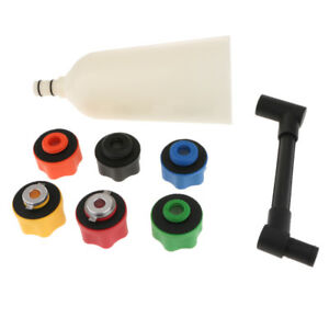 8 Pieces Car Truck Engine Oil Filler Funnel With 6 Adapter Automotive Tools