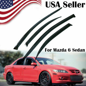 Window Visors Side Deflectors For 2002 2003 2004 2005 2006 07 08 Mazda 6 Sedan