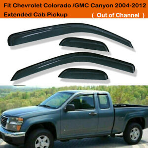 Us Vent Window Visors Rain Guard For Chevy Colorado Extended Cab 2004 2012 New