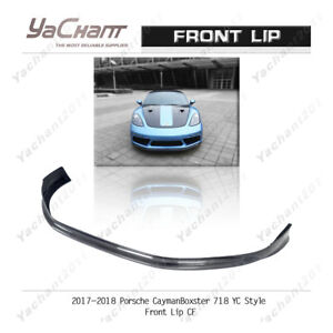 Carbon Splitter For 2017 2018 Porsche Cayman Boxster 718 Yc Front Lip