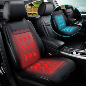 3 In 1 Car Leather Seat Cover Cushion Cooling Warm Heated Massage All Seasons