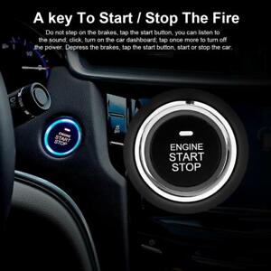 Car Entry Security Alarm System Keyless Start Stop Push Button Remote Engine Kit