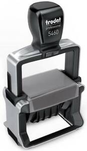 Trodat 5460 Professional Line Die Plate Dater Self Inking Stamp W Custom Text
