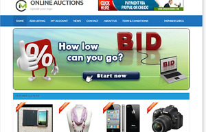 Online Auctions Website For Sale Hosting Included