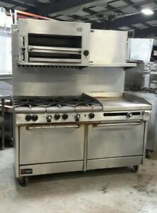 Used Southbend Nat Gas Range With 6 burner 24 griddle 2 standard Ovens