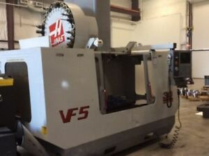 Used Haas Vf 5 Cnc Vertical Machining Center Mill Ct50 Renishaw Probe Auger 2001
