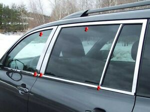 10pc Stainless Steel Window Trim Package Wp28111 Toyota Highlander 2008 2013