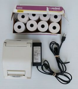 Star Tsp700ii Receipt Printer With Power Cord 8 Rolls Of Printer Paper