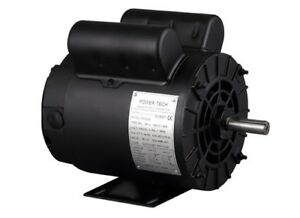 Electric Air Compressor Motor 2hp Spl 3450rpm 115 208 230v 1 Phase 5 8 Shaft
