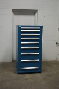 Used Vidmar 9 Drawer Cabinet Industrial Tool Storage 691