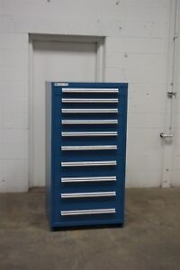 Used Vidmar 10 Drawer Cabinet Industrial Tool Parts Shop Storage 704