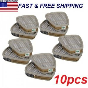 For 3m 6001cn Filter Cotton Boxes For 3m 6200 6800 7502 Double Gas Mask 10pcs