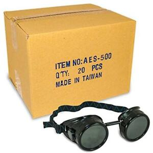 Safety Goggles Glasses Black Welding Cup 50mm Eye 20