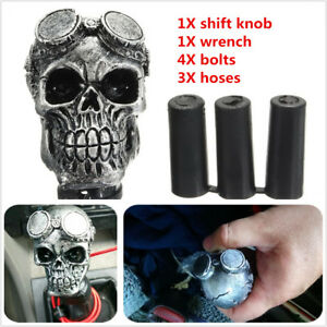 Car Skull Head Manual Transmission Gear Shift Knob Skull Shifter Lever Universal